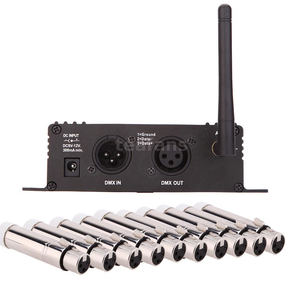 2 4g wireless dmx controller transmitter receiver w 10 female xlr receiver t6p0 ebay. Black Bedroom Furniture Sets. Home Design Ideas