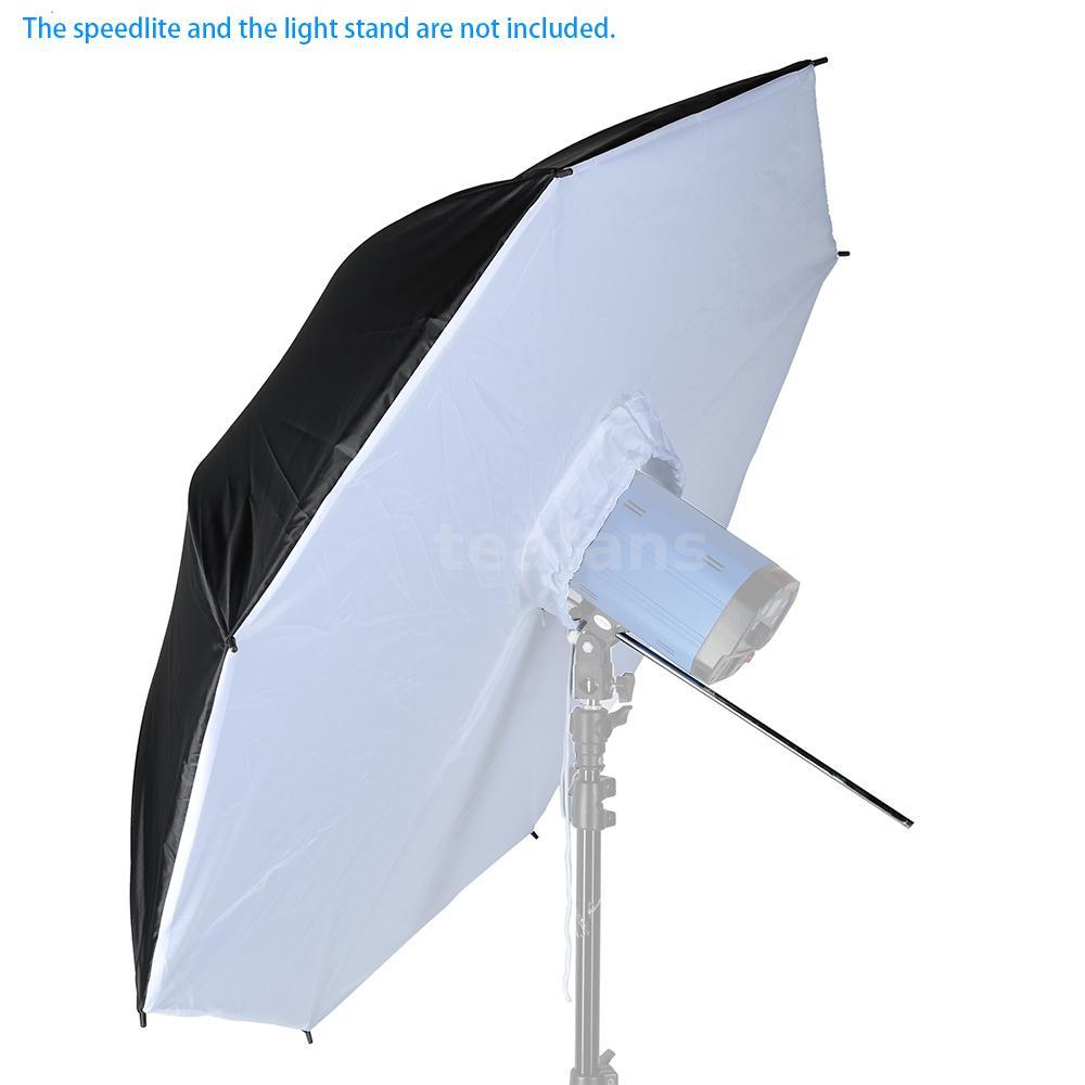 """Umbrella Into Softbox: 40"""" 102cm Black White Reflective Photo Studio Umbrella"""
