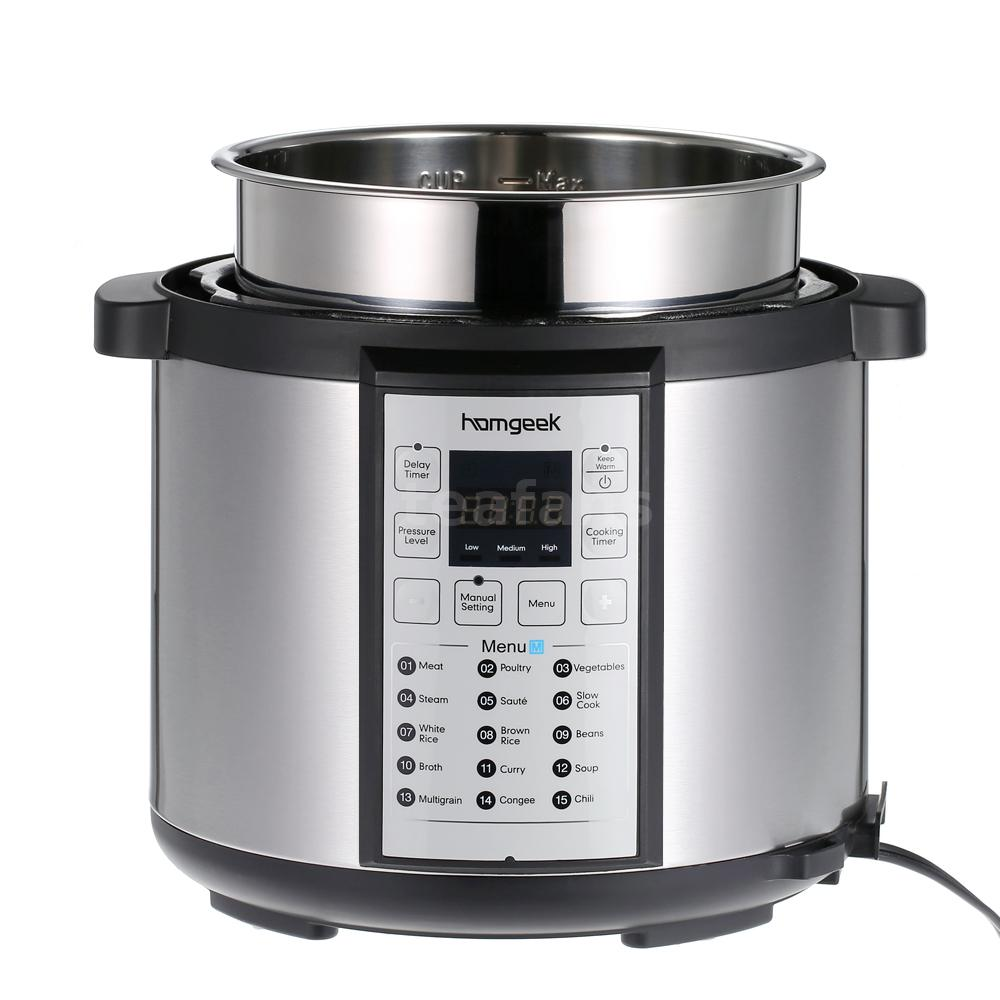 Electric Pressure Cooker ~ Homgeek programmable pressure cooker qt electric slow