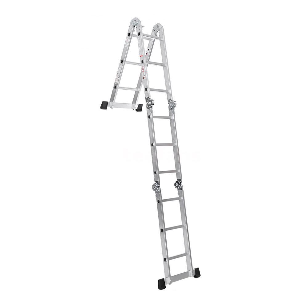 12 5ft multi purpose aluminum folding step ladder scaffold