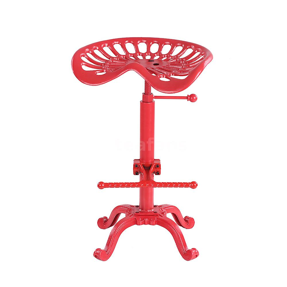 Set Of 2 Adjustable Tractor Seat Bar Stool Dining Chairs W  : H18091R 1 efbe dIal from www.ebay.com size 1000 x 1000 jpeg 57kB