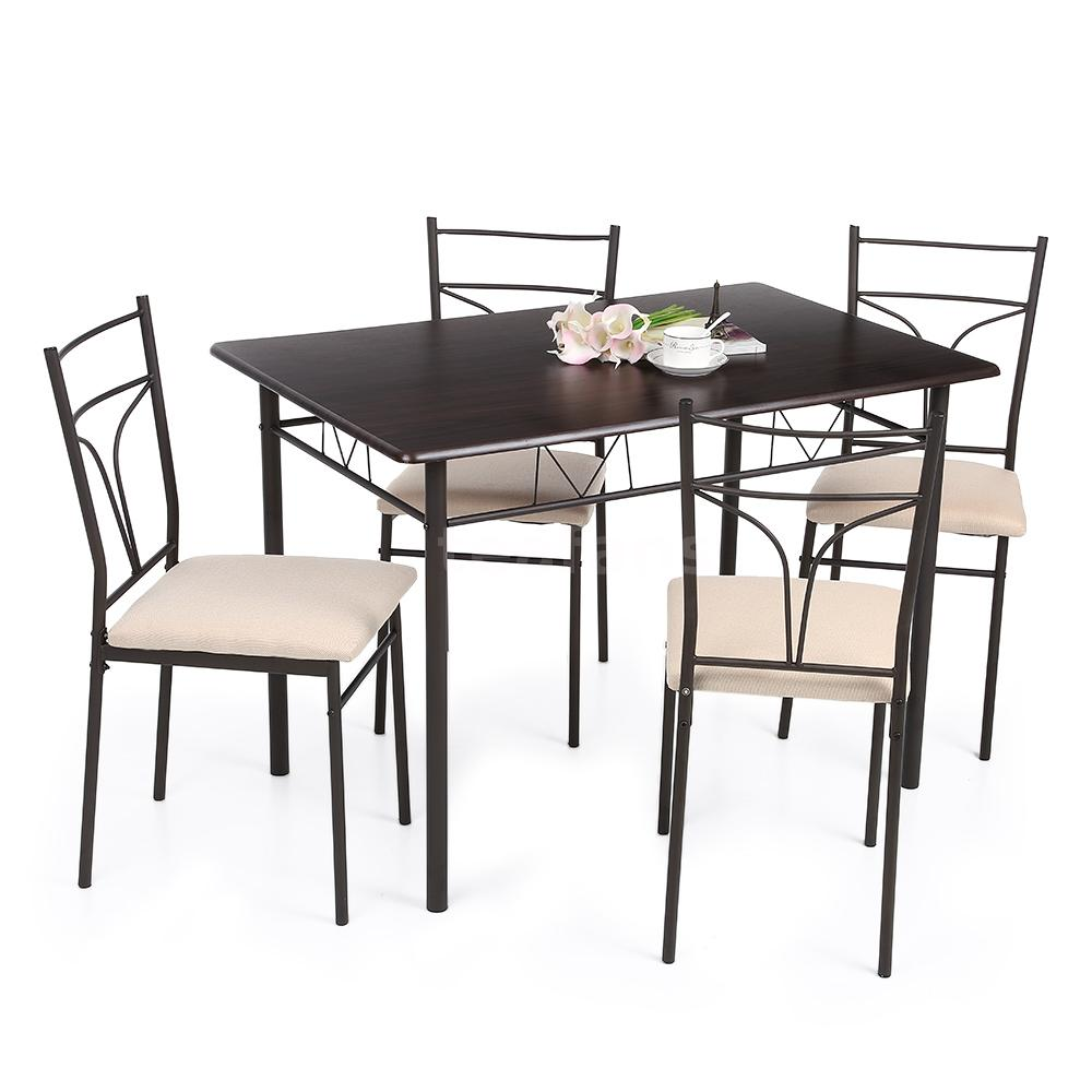 Dining table sets 4 chairs -  Dining Table Set Your Family Cannot Miss It Adopts High Quality Materials And Metal Frame Sturdy And Stable To Use Classical 1 Table And 4 Chairs
