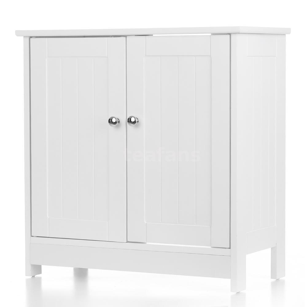 White Under Pedestal Under Sink Basin Bathroom Storage Cabinet ...