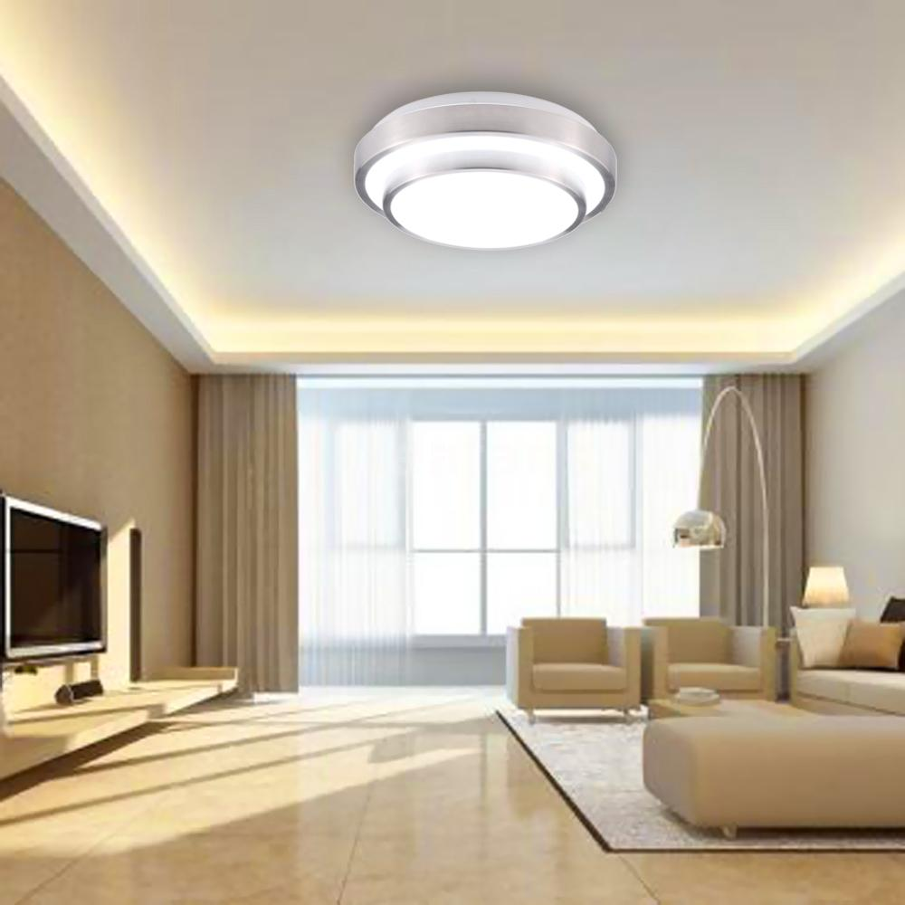 Light Filled Contemporary Living Rooms: 15W 30LED Flush Mount Ceiling Light Modern Lamp 1200LM