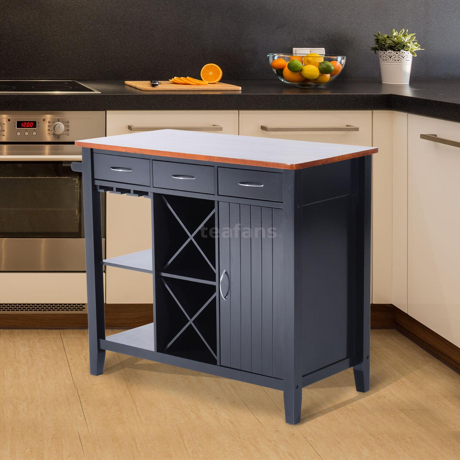 Organize Both With A Stylish And Versatile Wooden Kitchen Island